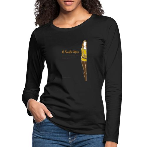 Proud Working Mom Gear - Women's Premium Slim Fit Long Sleeve T-Shirt
