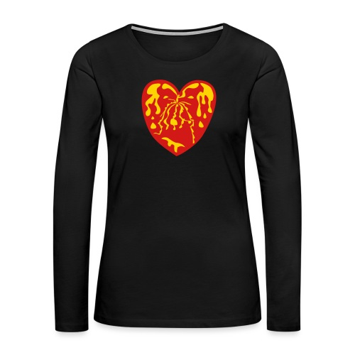fountain of youth heart - Women's Premium Slim Fit Long Sleeve T-Shirt
