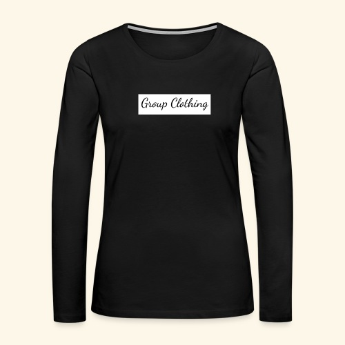 Cursive Black and White Hoodie - Women's Premium Long Sleeve T-Shirt