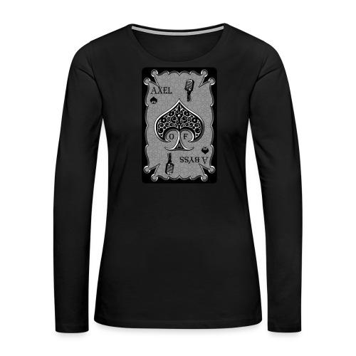 Axelofabyss Spade Card - Women's Premium Long Sleeve T-Shirt