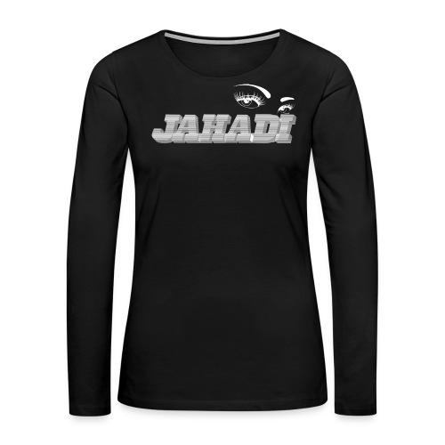 hadilogoWHITE - Women's Premium Long Sleeve T-Shirt
