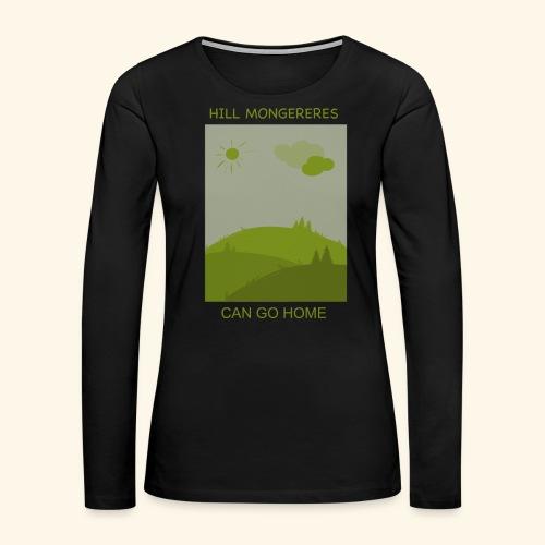 Hill mongereres - Women's Premium Slim Fit Long Sleeve T-Shirt