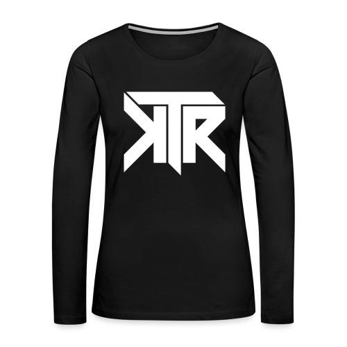 KTR Logo White - Women's Premium Long Sleeve T-Shirt