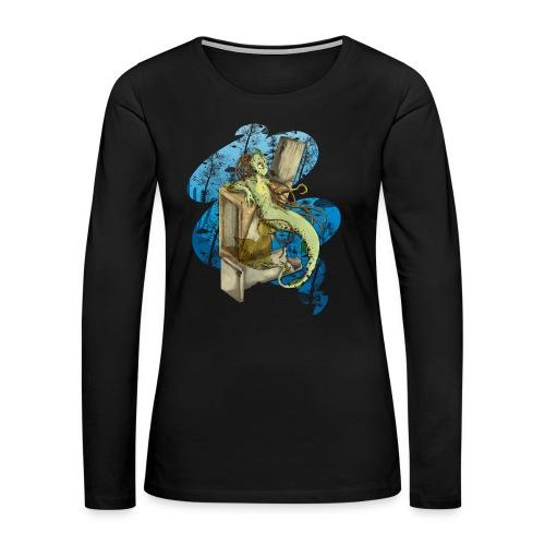 Alien merman - Women's Premium Long Sleeve T-Shirt