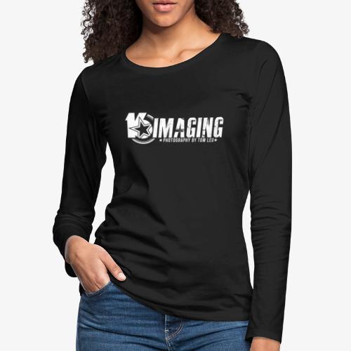 16IMAGING Horizontal White - Women's Premium Slim Fit Long Sleeve T-Shirt