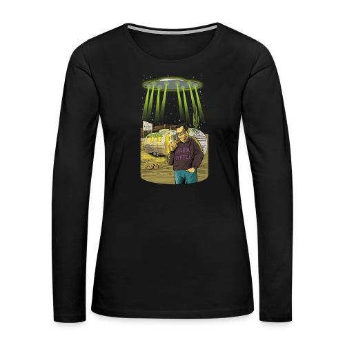 Art Bell Coast to Coast UFO Sighting - Women's Premium Long Sleeve T-Shirt