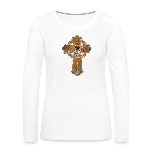 Cross_01PNG_text - Women's Premium Slim Fit Long Sleeve T-Shirt