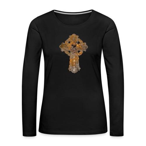 Cross_01PNG_text - Women's Premium Slim Fit Long Sleeve T-Shirt