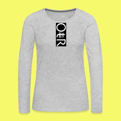 OntheReal coal - Women's Premium Long Sleeve T-Shirt