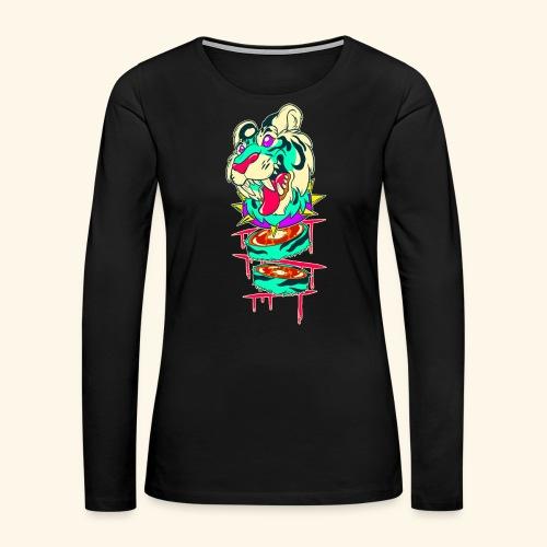 - Decaptiger - - Women's Premium Slim Fit Long Sleeve T-Shirt