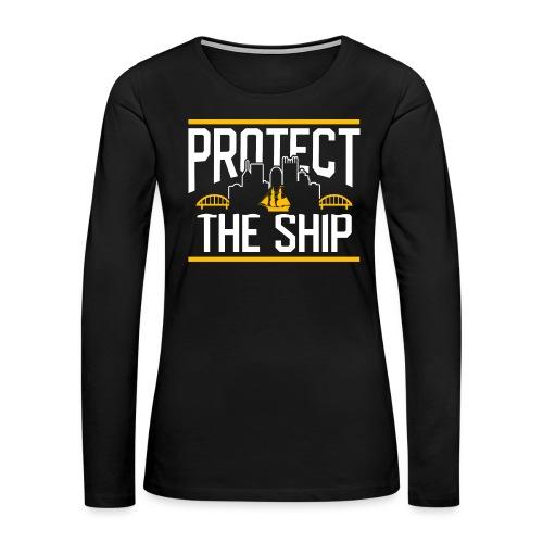 protect - Women's Premium Slim Fit Long Sleeve T-Shirt