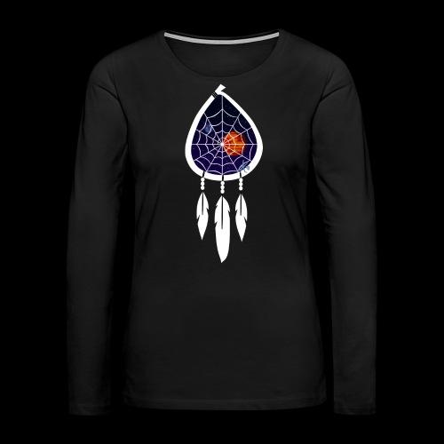 Dreamcatcher Space Inspiring 1 - Women's Premium Slim Fit Long Sleeve T-Shirt