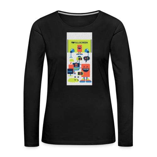 iphone5screenbots - Women's Premium Slim Fit Long Sleeve T-Shirt