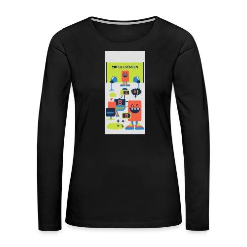 iphone5screenbots - Women's Premium Long Sleeve T-Shirt