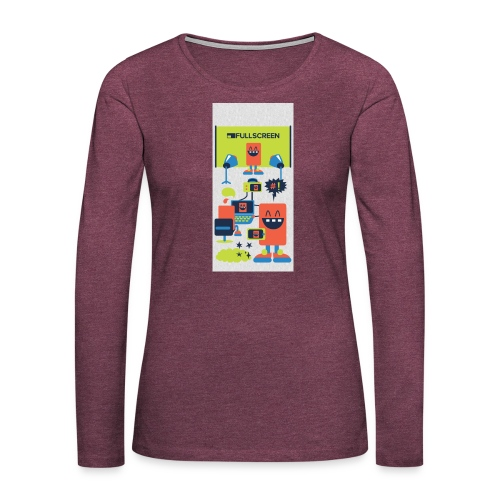 iphone5screenbots - Women's Premium Long Sleeve T-Shirt