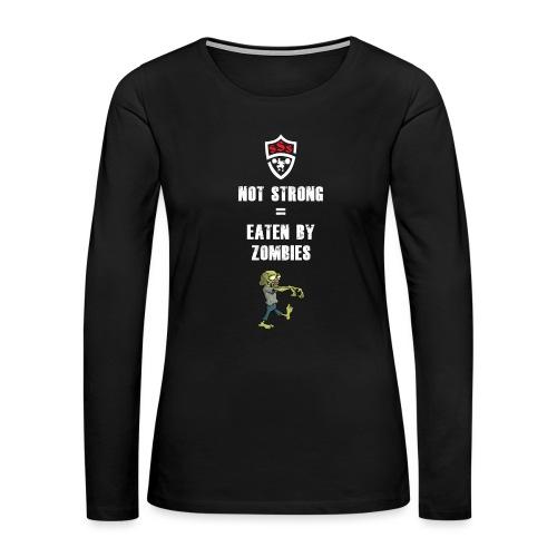 Eaten By Zombies - Women's Premium Long Sleeve T-Shirt