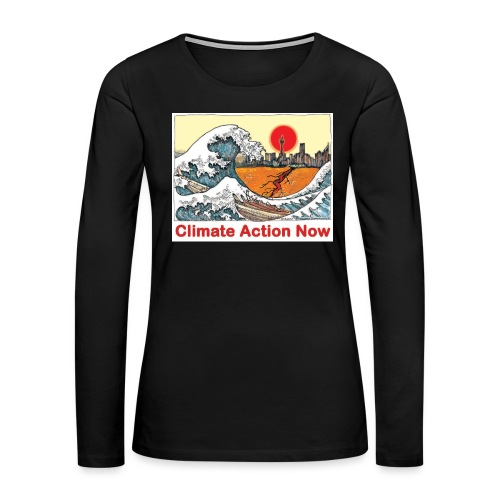 T shirt Wave - Women's Premium Slim Fit Long Sleeve T-Shirt