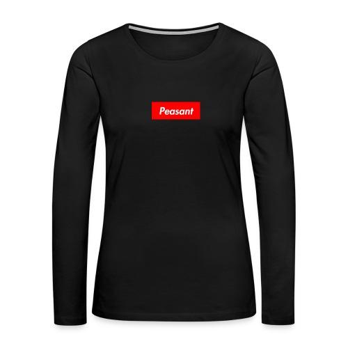 peasant - Women's Premium Slim Fit Long Sleeve T-Shirt