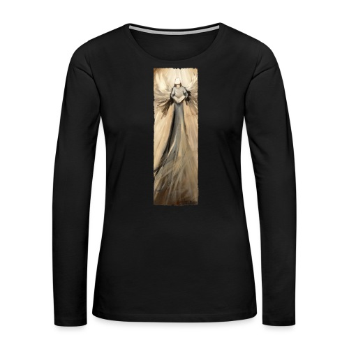 Long angel print_07_Ragge - Women's Premium Slim Fit Long Sleeve T-Shirt