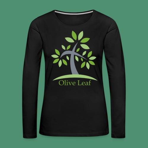 Olive Leaf - Women's Premium Slim Fit Long Sleeve T-Shirt