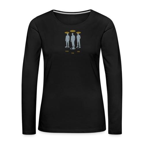 Pathos Ethos Logos 1of2 - Women's Premium Slim Fit Long Sleeve T-Shirt