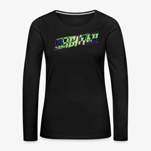 Retro Logo Glitch - Women's Premium Long Sleeve T-Shirt
