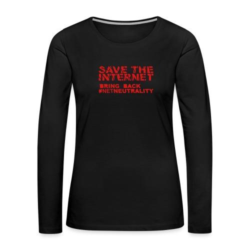 Save The Internet - Women's Premium Slim Fit Long Sleeve T-Shirt