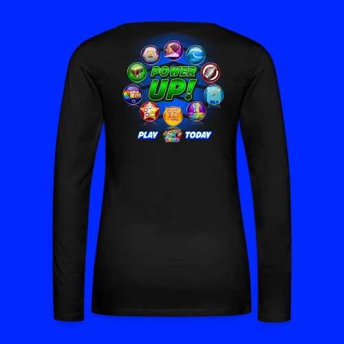 Vintage Cannonball Bingo Power-Up Tee - Women's Premium Long Sleeve T-Shirt