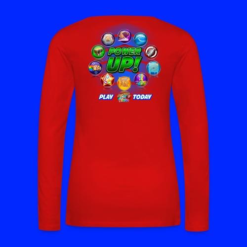 Vintage Cannonball Bingo Power-Up Tee - Women's Premium Long Sleeve T-Shirt