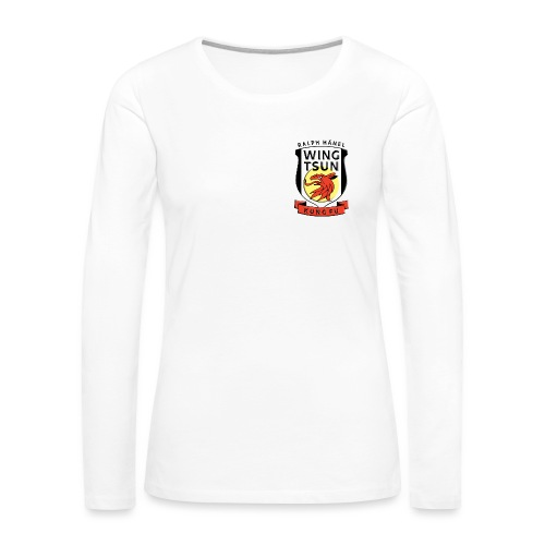 wingtsunkungfu logo - Women's Premium Slim Fit Long Sleeve T-Shirt
