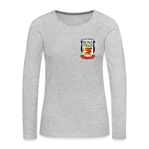 wingtsunkungfu logo - Women's Premium Slim Fit Long Sleeve T-Shirt