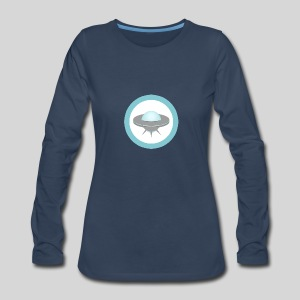 ALIENS WITH WIGS - Small UFO - Women's Premium Long Sleeve T-Shirt