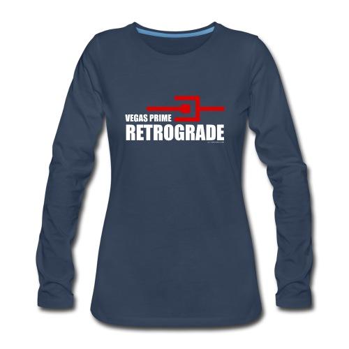 Vegas Prime Retrograde - Title and Hack Symbol - Women's Premium Long Sleeve T-Shirt
