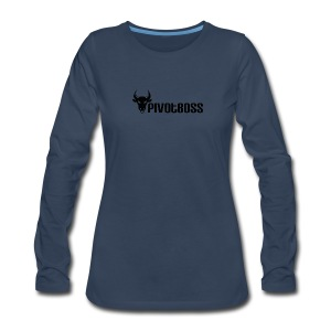 PivotBoss Black Logo - Women's Premium Long Sleeve T-Shirt