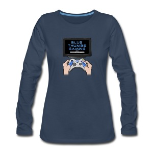 Blue Thumbs Gaming: Gamepad Logo - Women's Premium Long Sleeve T-Shirt
