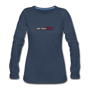 RetroSFX logo - Women's Premium Long Sleeve T-Shirt