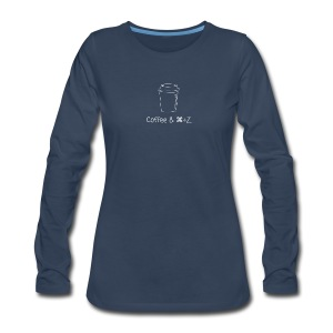 Coffee & Command + Z - Women's Premium Long Sleeve T-Shirt