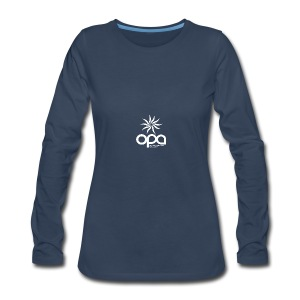 Long-sleeve t-shirt with small white OPA logo - Women's Premium Long Sleeve T-Shirt
