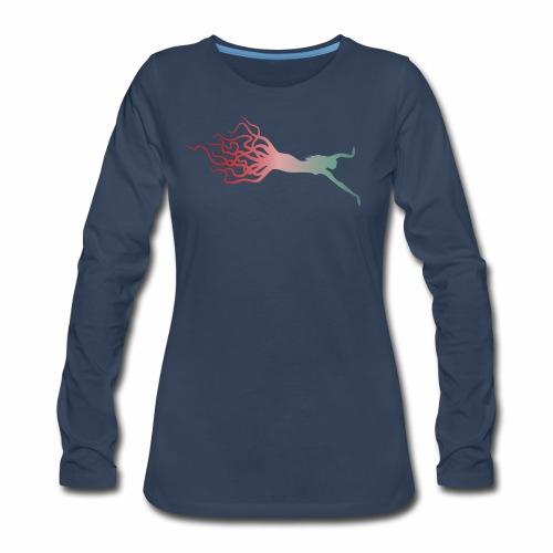 Octowoman fade - Women's Premium Long Sleeve T-Shirt