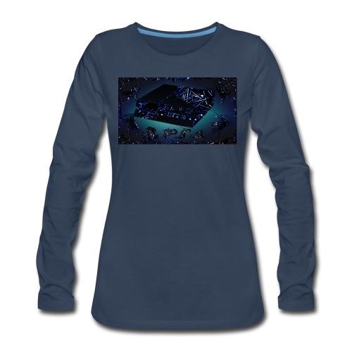 ps4 back grownd - Women's Premium Long Sleeve T-Shirt