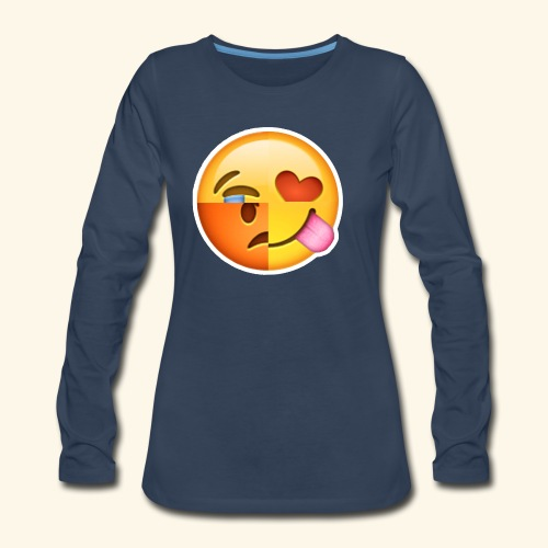 E Tees , Unique , Love , Cry, angry - Women's Premium Long Sleeve T-Shirt