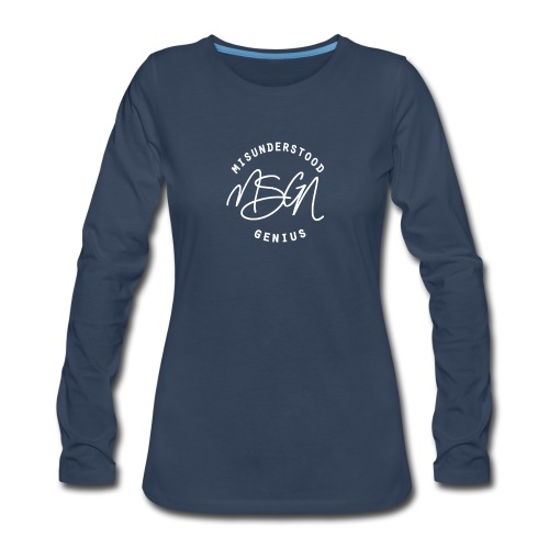 MSGN Logo - Women's Premium Slim Fit Long Sleeve T-Shirt
