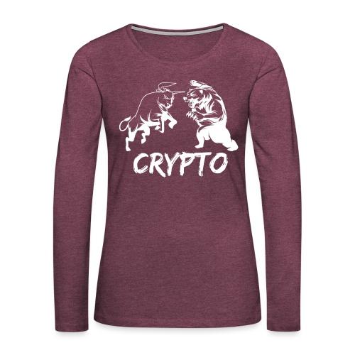 CryptoBattle White - Women's Premium Long Sleeve T-Shirt