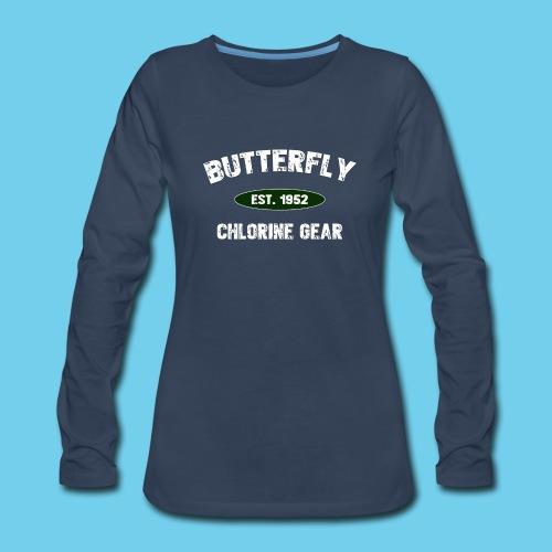 Butterfly est 1952-M - Women's Premium Slim Fit Long Sleeve T-Shirt