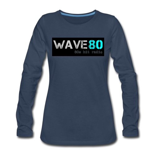Main Logo - Women's Premium Slim Fit Long Sleeve T-Shirt