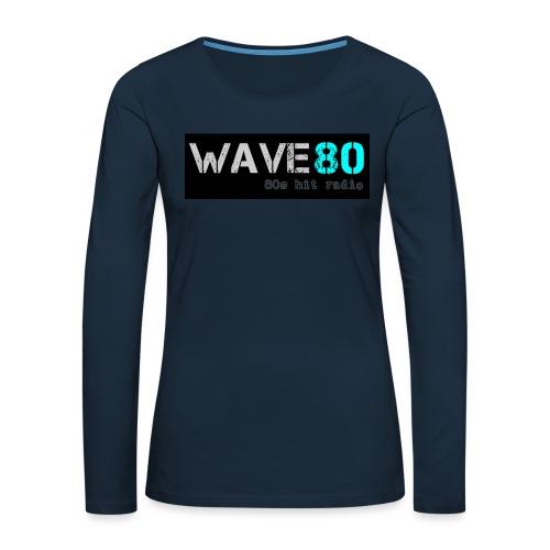 Main Logo - Women's Premium Slim Fit Long Sleeve T-Shirt
