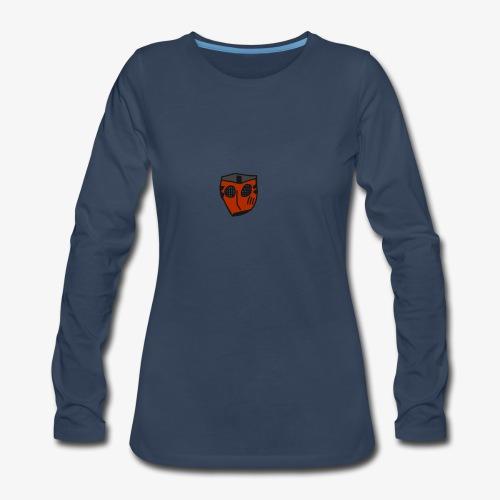 Scratched Mask MK IV - Women's Premium Slim Fit Long Sleeve T-Shirt