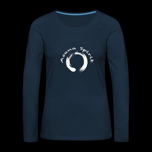 Enso Ring - Asana Spirit - Women's Premium Slim Fit Long Sleeve T-Shirt