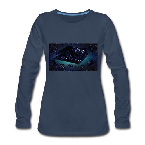 ps4 back grownd - Women's Premium Slim Fit Long Sleeve T-Shirt
