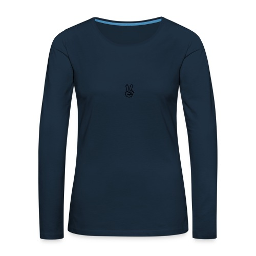Peace J - Women's Premium Slim Fit Long Sleeve T-Shirt